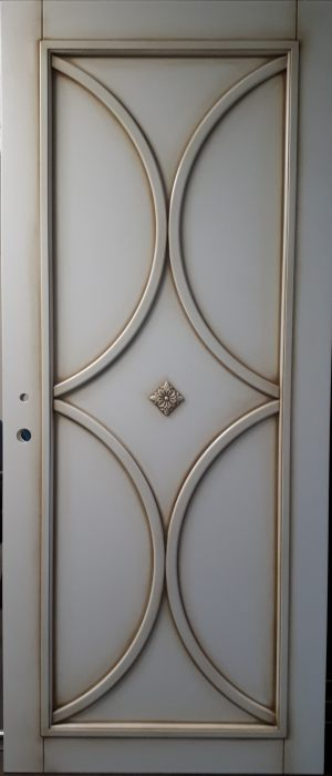 Межкомнатная дверь в профиле массив (эмаль с патиной) Сургут
